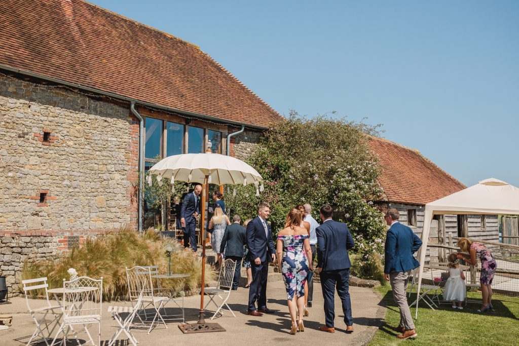 Nikki and Dave's Grittenham Barn wedding